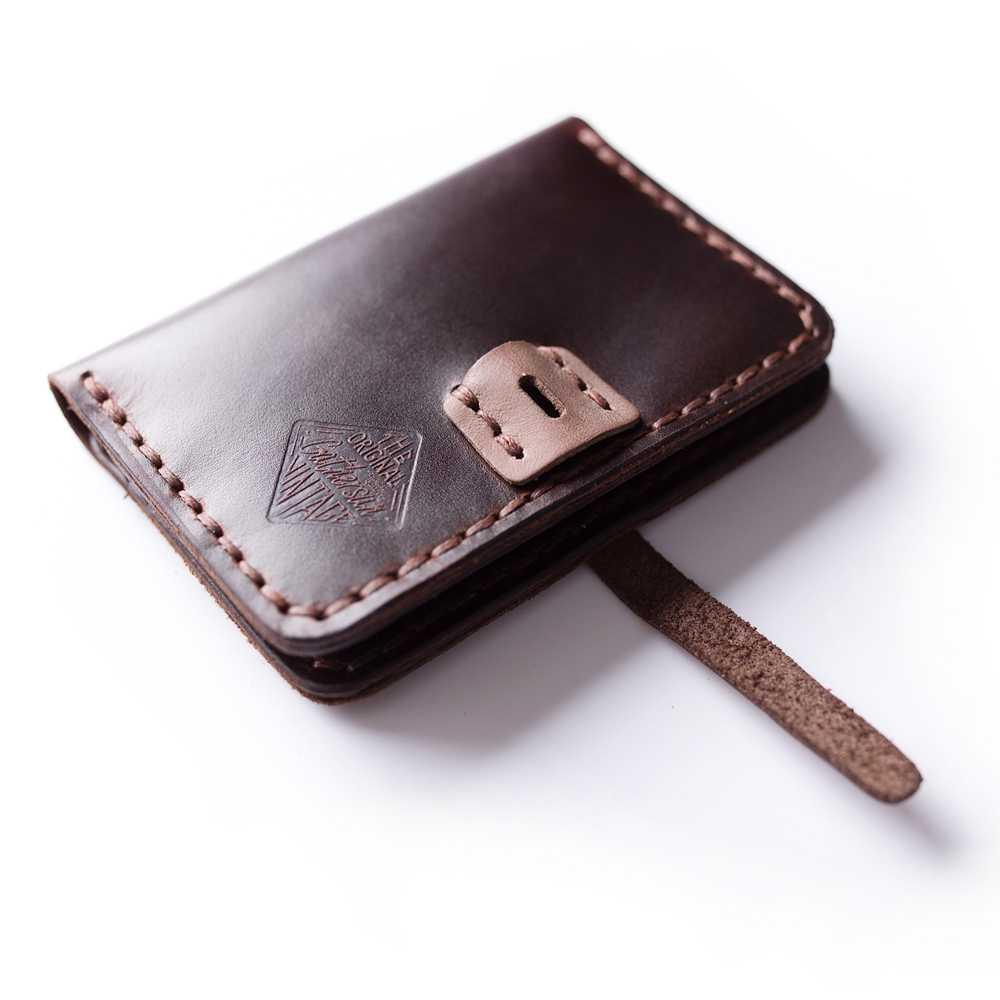 4b97e2b5a7ab ... Мини-кошелек из натуральной кожи ручной работы Кредитная карта  маленький кошелек мужской Кожаный минималистичный кошелек