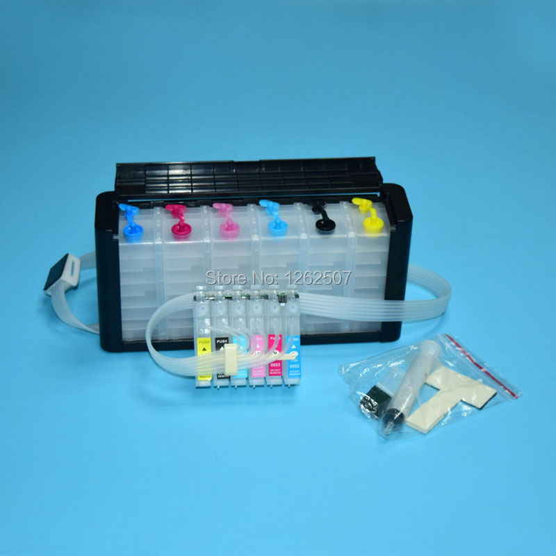 81N Ciss ink system For Epson Stylus photo 1410 R290 R390 RX590 RX690 RX610 TX800 TX700 T50 TX810FW Artisan 725 730 1430 Printer