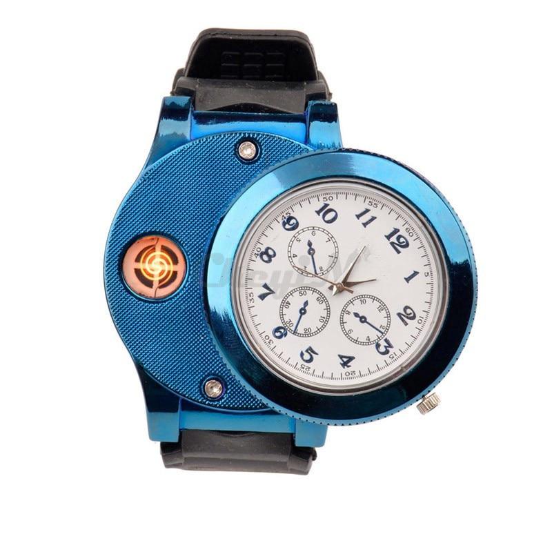 Caliente Moda Casual Deporte Reloj de pulsera USB Encendedor Relojes - Relojes para hombres - foto 3