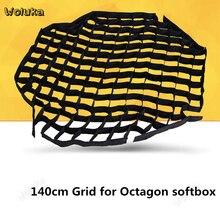 140 см софтбокс сетки Octa сетка соты Softbox Сетки Портативный крышка фон для фотосъемки аксессуары для уличной вспышки Godox софтбокс NO00DGT10 X