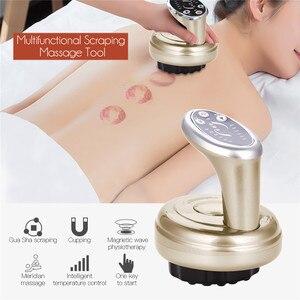 Image 2 - Elektrische Schrapen Massager Schraper Therapie Wave Druk Body Ontspanning Meridiaan Stimuleren Acupunten Vacuüm Copping Guasha Tool