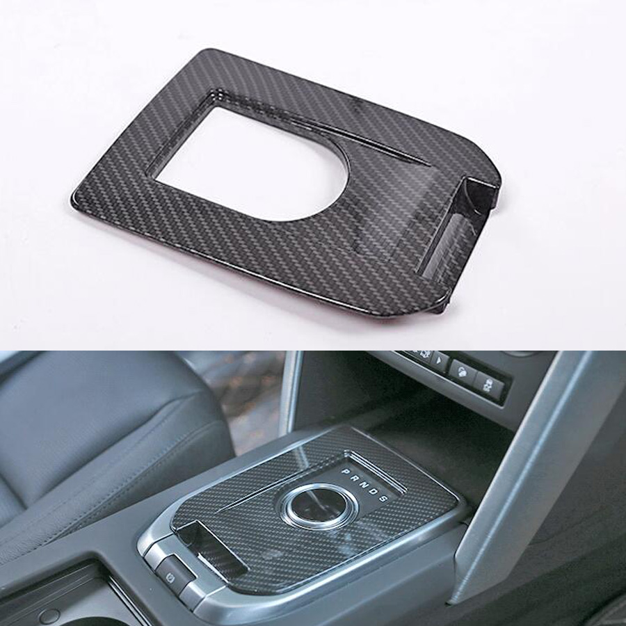 Fit For Land Rover Discovery Sport 2015-2017 Auto Car Gear Shift Box Panel Frame Trim Sticker Car-styling ABS Carbon Fiber Black for land rover discovery sport car styling luxury interior accessory gear shift panel trim sticker abs dark wood grain 2015