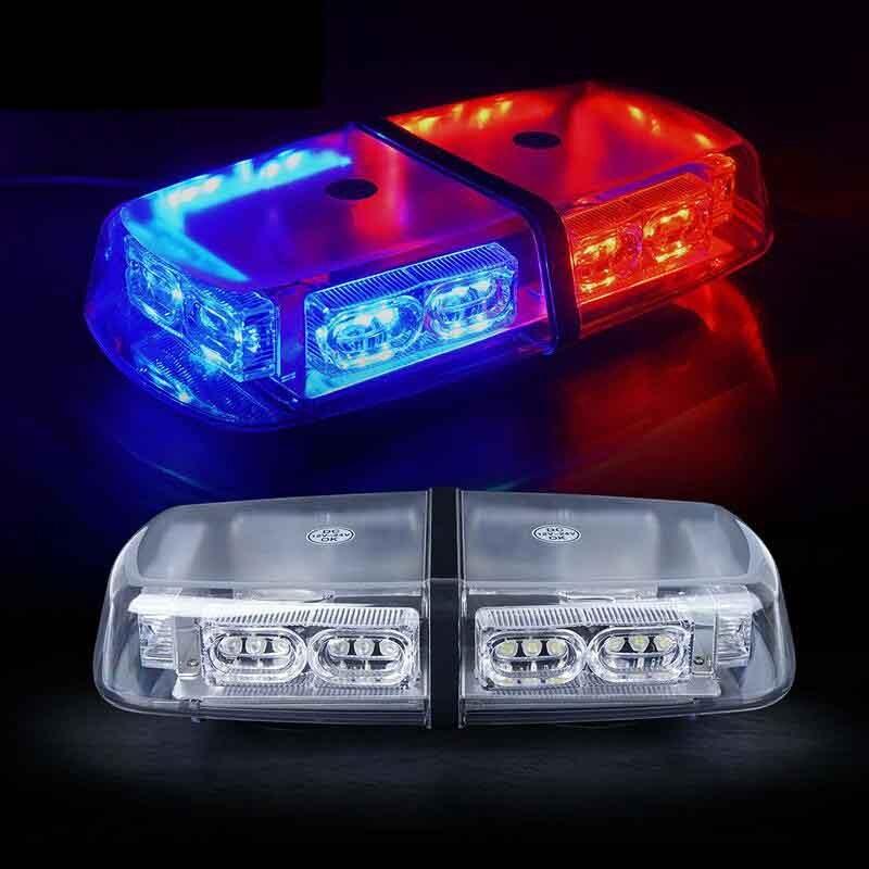 אדום כחול 36 LED 18 ואט גג למעלה מגנט בעוצמה גבוהה אכיפת החוק חירום Hazard אזהרת LED מיני בר Strobe אור