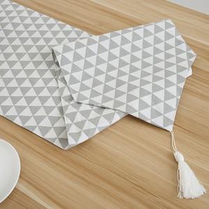 Image 4 - Chemin De Table en coton et lin, De Style nordique et moderne minimaliste, pour meuble TV japonais, Long, pour Table basse, pour lit