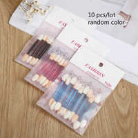 10 Pcs/Lot Random Color Eyeshadow Brush Stick Double-ended Eye Shadow Brush Makeup Brushes Manicure Nail Art Tool