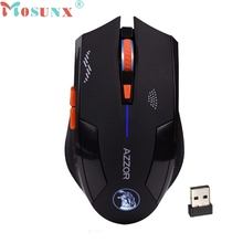Ecosin2 Mosunx 2.4GHz Wireless 6D Rechargeable 2400DPI X3 6 Buttons Optical USB Gaming Mouse Professional Gamer Mice 17mar16