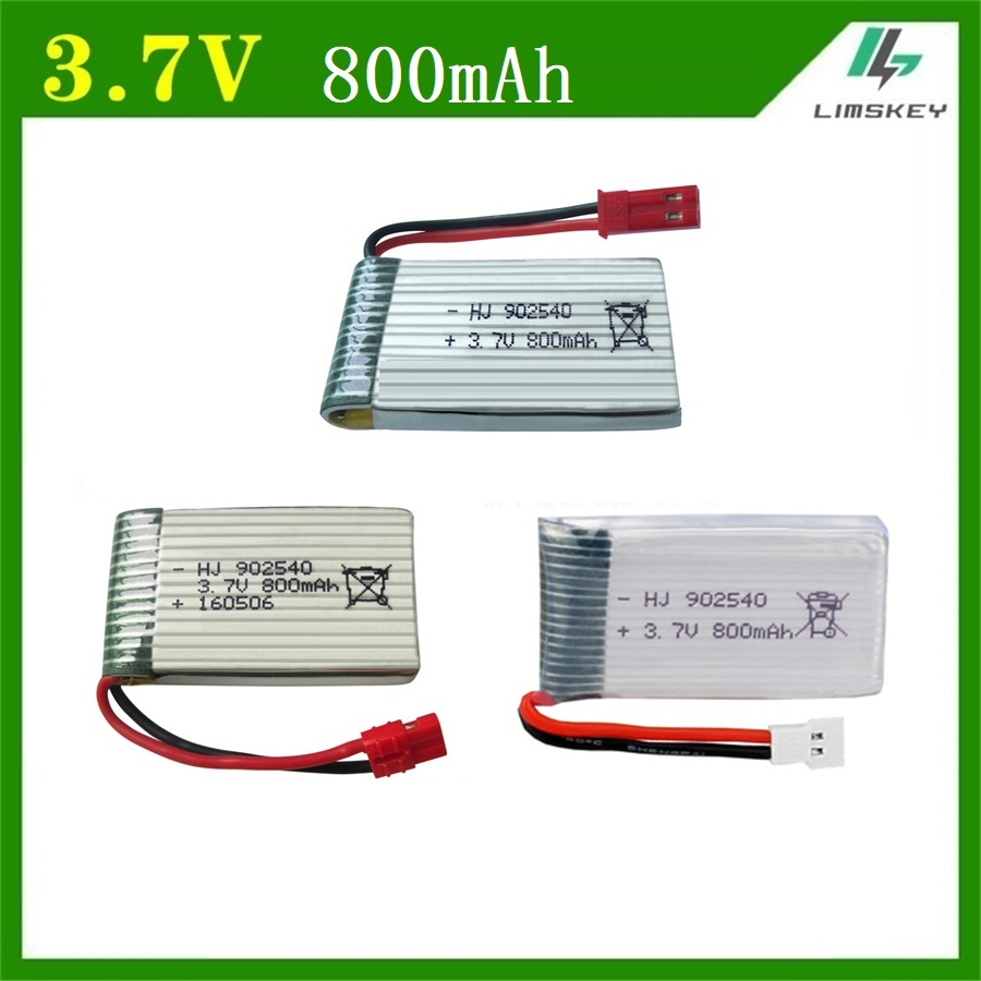 1pcs 3.7V 800mAh 902540 Battry For Syma X5C X5SC X5SW M68 X5HC X5HW X400 X800 Four-axis Model Aircraft 3.7V 800mah Lipo Battery
