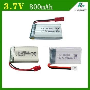 цена на 1pcs 3.7V 800mAh 902540 Battry For Syma X5C X5SC X5SW M68 X5HC X5HW X400 X800 four-axis Model aircraft 3.7V 800mah Lipo battery