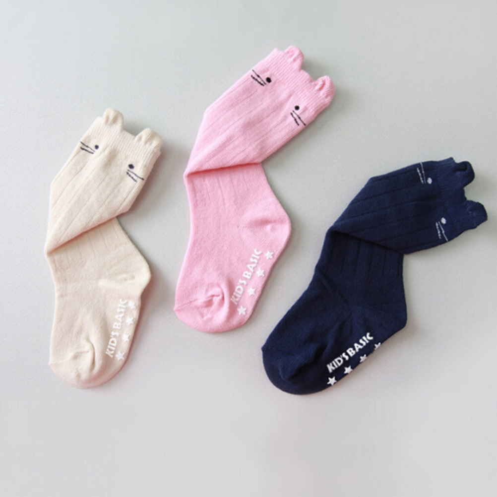 Strict 1pairs New Born Anti Slip Knee High Baby Girls Socks Magic Sock Boys Leg Warmers Autumn And Winter 0-3t To Have A Unique National Style Mother & Kids