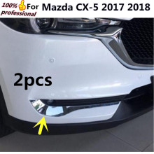 Car body ABS Chrome cover trim front head fog light hoods lamp frame stick part 2pcs For Mazda CX-5 CX5 2nd Gen 2017 2018