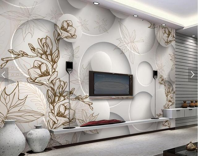 3d room wallpaper mural wall vintage magnolia leaves for living room