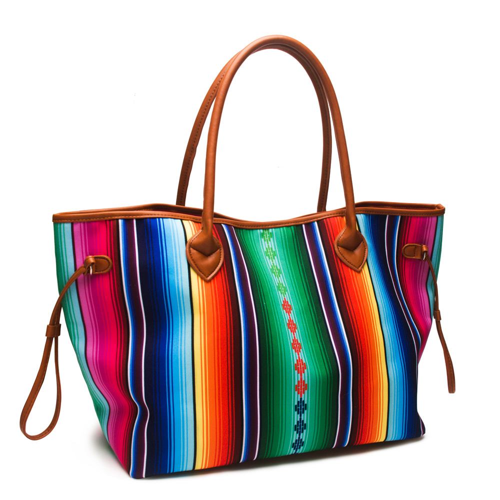 2 Pcs Serape Und Aztec Frauen Handtasche Leinwand Casual Handtasche In frauen Tote Mit Zwei Saiten Freies Verschiffen DOM1086-in Taschen mit Griff oben aus Gepäck & Taschen bei  Gruppe 3