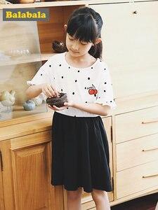 Image 3 - Balabala Girls Dress rękaw motylek maluch dziewczyna sukienka z wycięciem na plecach dzieci dzieci dziewczyna letnia sukienka plażowa z falbanką