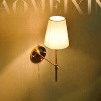 現代壁ランプフル壁燭台ファブリックランプシェード浴室ミラーベッドサイドキャビネット備品ホーム照明