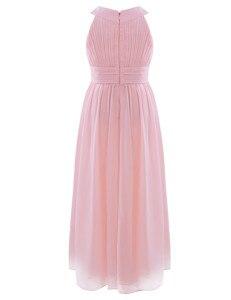 Image 4 - 2020 新着夏のフラワーガールのドレス王女の誕生日ページェント初聖体シフォンパーティーロングマキシドレス