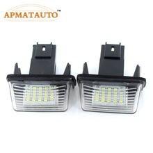 Светодиодный светильник для номерного знака, белый, 2 шт., без ошибок Canbus, для PEUGEOT 206 207 306 307 CITROEN C3 C4 C5