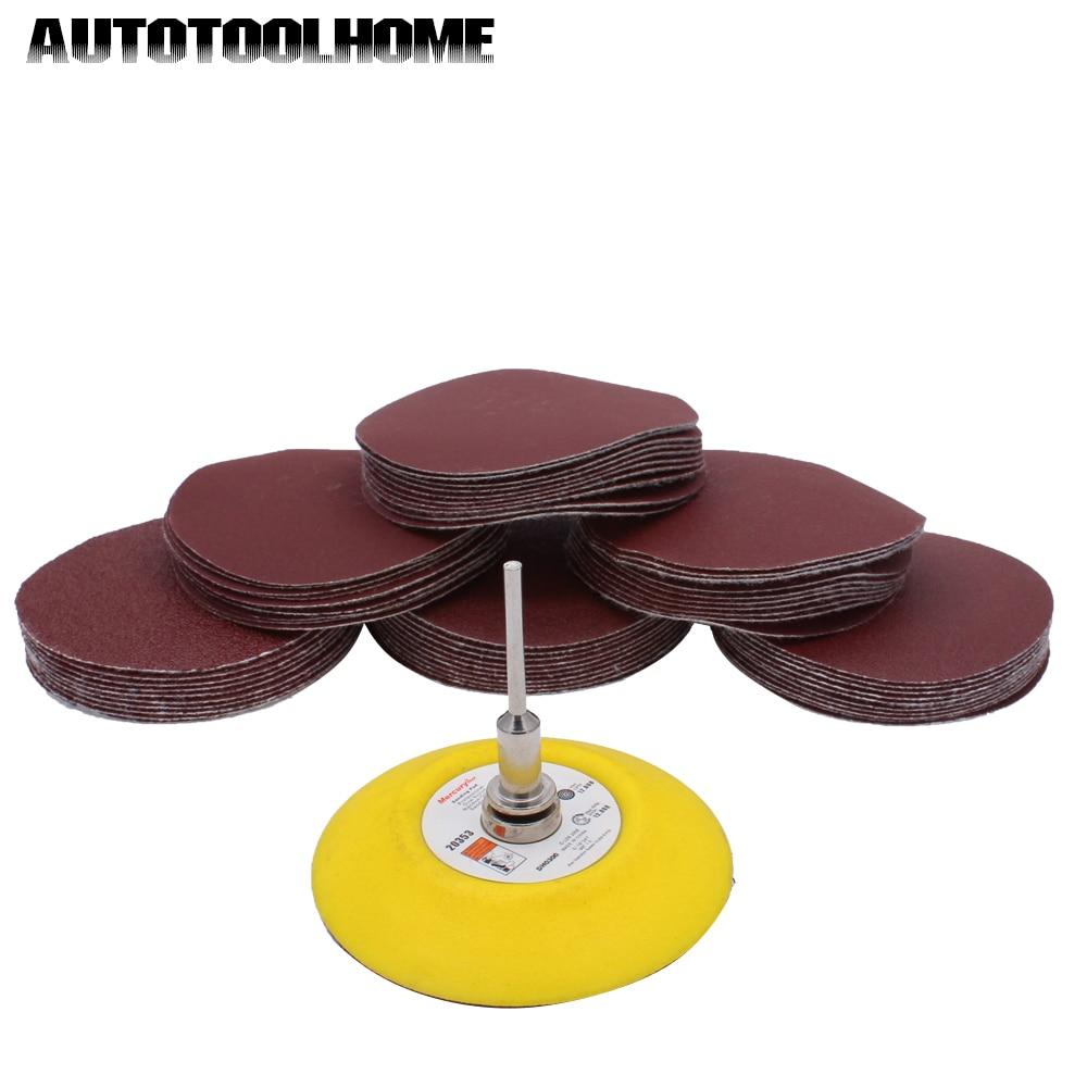 Set de papel de lija abrasivo 25 Unids Mix Grit Sander Lijado de disco Almohadillas de pulido Set de papel de lija abrasivo