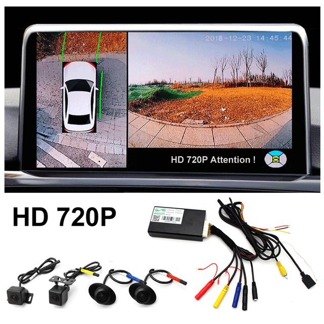 Car Parking Surround View DVR Video Recorder Box HD 720P 2D 360 Degree Bird View Panorama System With 4 Camera