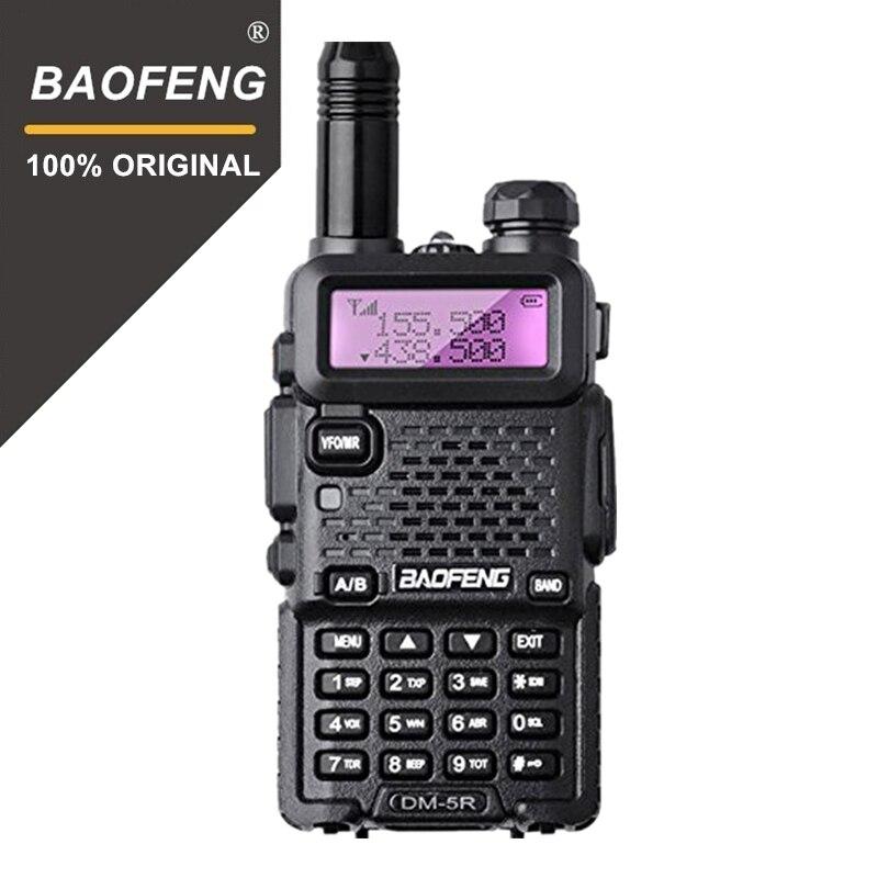 Baofeng DM-5R Plus Dual Band DMR Numérique Talkie Walkie Émetteur-Récepteur 1 w 5 w VHF UHF 136-174/400- 480 mhz Long Rang Deux Way Radio