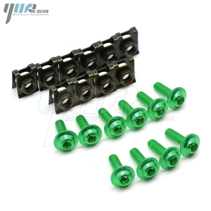 Image 1 - 10 pieces 6mm motorcycle fairing body screws for suzuki gsf 600 sv650s  bandit 400 drz 400 gsr dl 650 TL1000R  SV1000 S