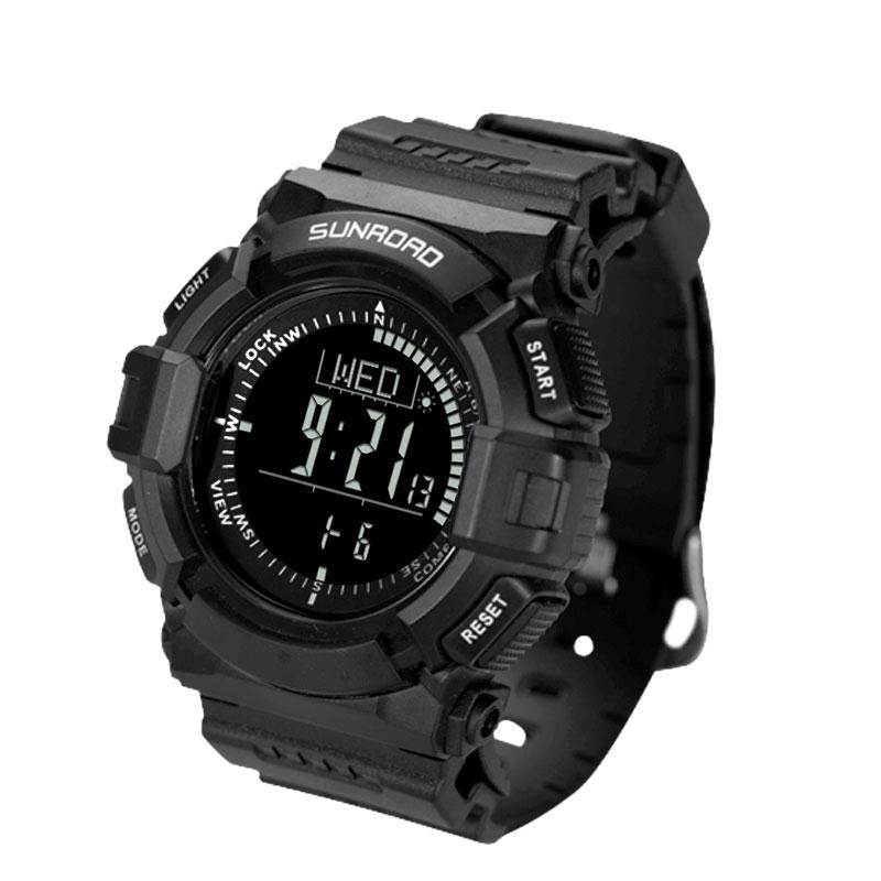 SUNROAD FR823R  Watches Men Outdoor Sports EL Backlit Digital Watch Waterproof Compass Pedometer Barometer Thermometer Timer