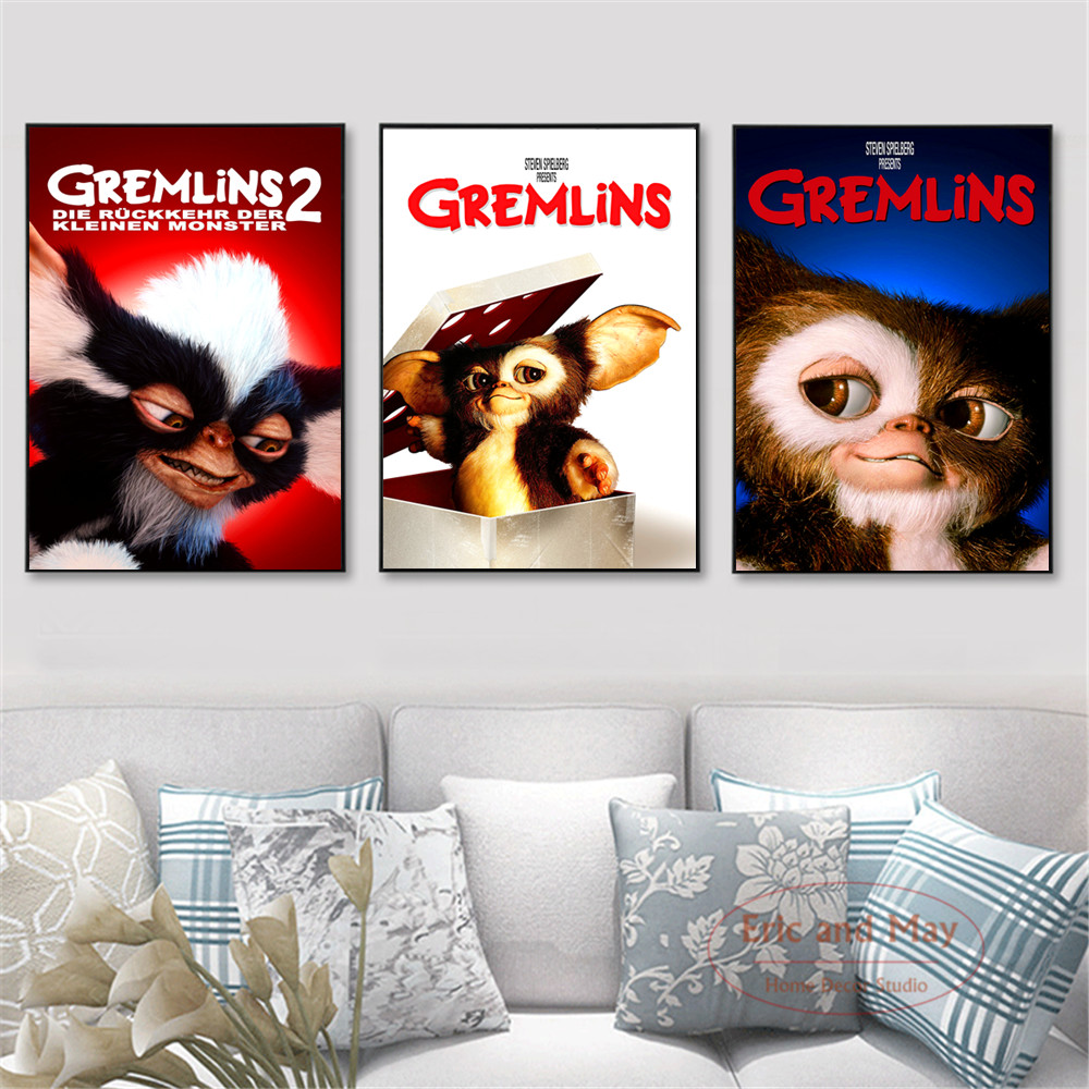 US $3 92 50% OFF|Funny Gremlins Movie Figure Posters And Prints Wall Art  Canvas Painting For Living Room Decoration Home Decor Unframed Quadros-in
