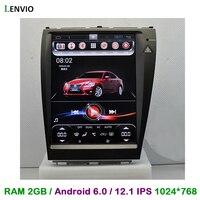 Lenvio 12.1IPS Screen 2GB RAM Android 6.0 CAR DVD GPS For Lexus ES ES250 ES300 ES350 2006 2007 2008 2009 2010 2011 Quad Core