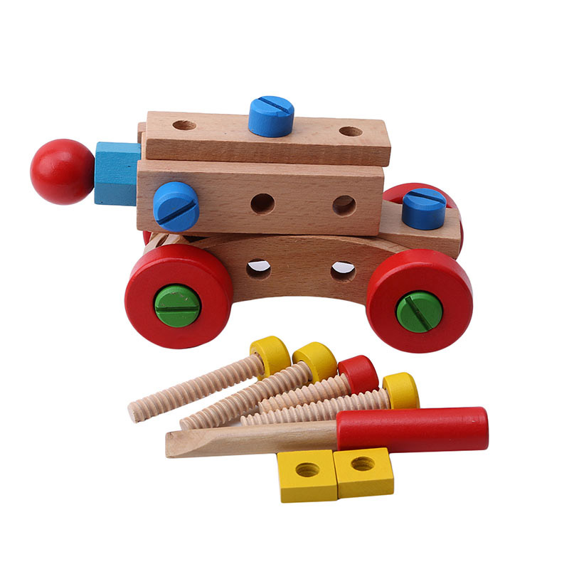 Puzzles Heißer Verkauf Holz Lernen Bildung Spielzeug Mutter Und Schraube Montieren Zerlegen 31 Stück Diy Veränderbar Mutter Bausteine Auto 100% Original Sammeln & Seltenes
