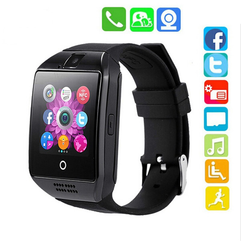 Watch Men Q18s Bluetooth Smart Watch Support 2G GSM SIM Card Audio Camera Fitness Tracker Smartwatch Android iOS Mobile Phone illumine 2016 hot sale dgb 400 bluetooth smart watch intelligent smartwatch for android mobile phone killer remote camera