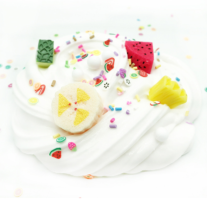 Fruit Banana Dragon Fruit Cotton Mud Crystal Mud DIY Craft Toy White Slime Toy Slime Poke Mud Accessories Toys For Kids Gift