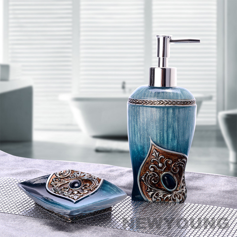 Bathroom set toiletries two piece creative European bottle of hand washing liquid soap box soft decoration bathroom accessories. Decorative Bathroom Accessories Sets Promotion Shop for