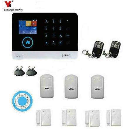YobangSecurity 3G WCDMA Alarm System WIFI GPRS SMS Home Security Alarm System Wireless Burglar Alarm System with Wireless Strobe