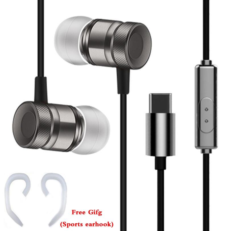 Original HC065 in-ear headset metall kolben draht kopfhörer sport stereo bass kopfhörer mit mikrofon für Letv LeEco typ c telefon