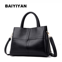 BAIYIYAN Women Patchwork PU Leather Tote Bag Fashion Large Handbags Ladies Shoulder Bag Casual Messenger Bags vintage women bags ethnic patchwork pu leather shoulder bag retro tassel desinger handbags messenger bag casual flap clutch ttou
