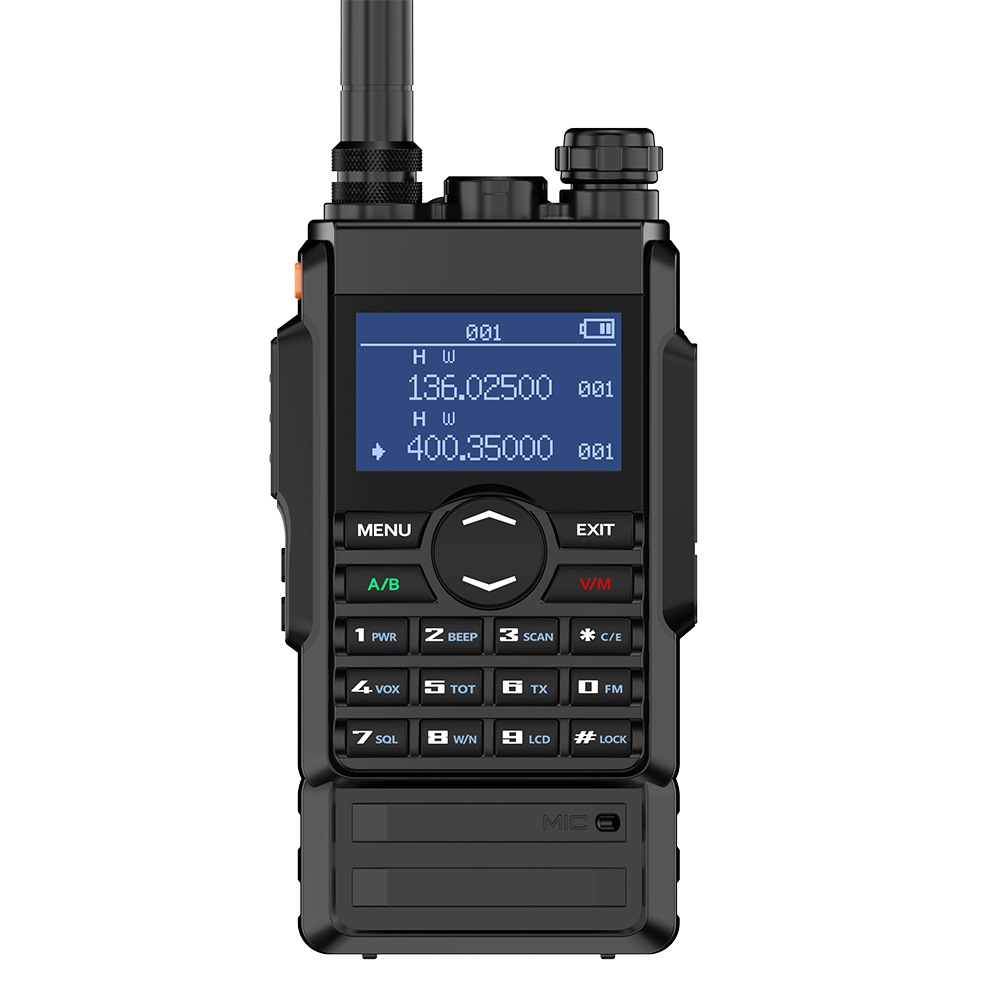 Zastone 8W dual band walkie talkie 136 174 400 480mhz 250 channels 2600mah battery hf transceiver