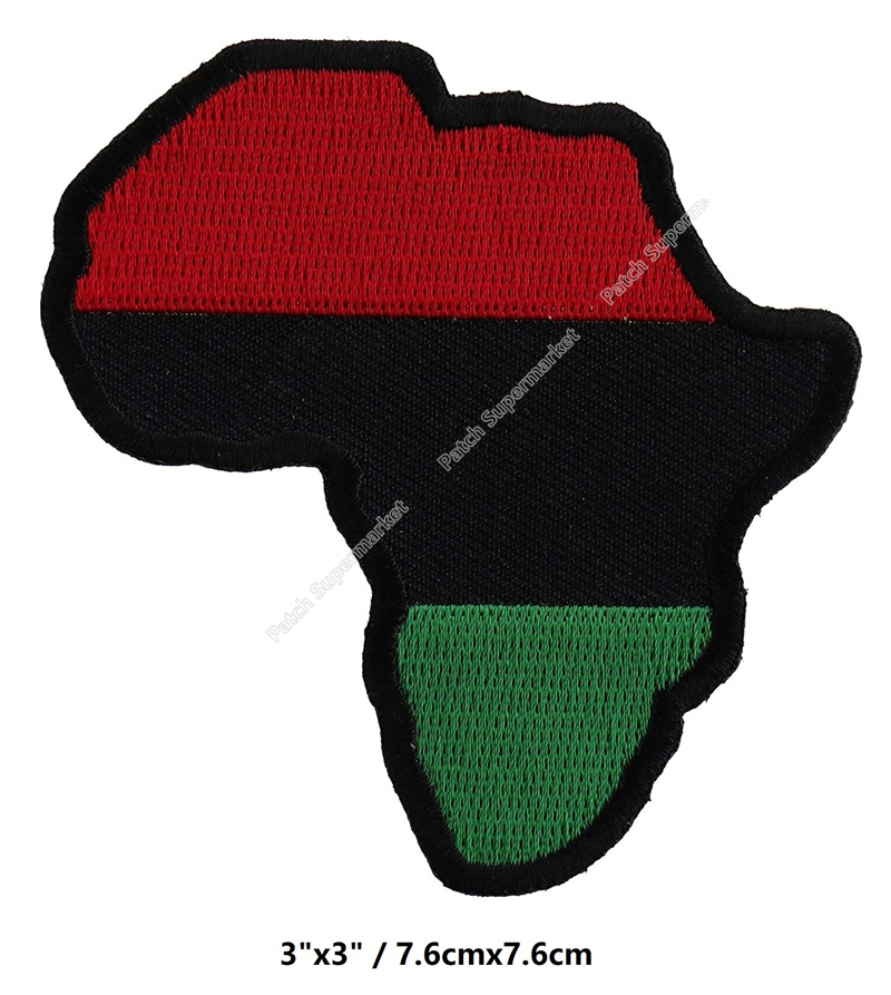3 African Map patches flag Badge BADGE for clothing diy Tshirt TRANSFER wholesale dropship travel souvenirs