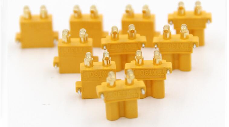 Image 3 - 100 x AMASS XT30PW banane golden XT30 mise à niveau à Angle droit connecteur mâle femelle ESC moteur carte PCB brancher (50 paire)-in Pièces et accessoires from Jeux et loisirs on AliExpress