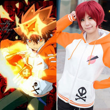 Anime hitman renascer sawada tsunayoshi cosplay traje moletom com capuz camisolas unisex casaco com capuz frete grátis