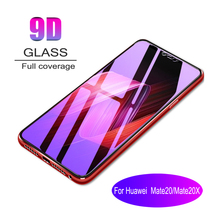 100pcs 9D Full Cover Tempered Glass For Huawei Mate20 20X Screen Protective Film Anti Blue Ray Purple light  Glass film 100pcs dental universal x ray film mount frame 100pcs 2holes