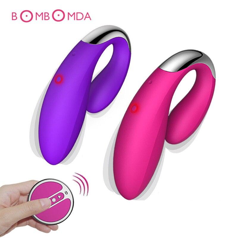 Водонепроницаемый 10 Скорость Беспроводной удаленного Управление USB Перезаряжаемые Доль вибратор Секс-игрушки для Для женщин пара G Spot клитора массажер