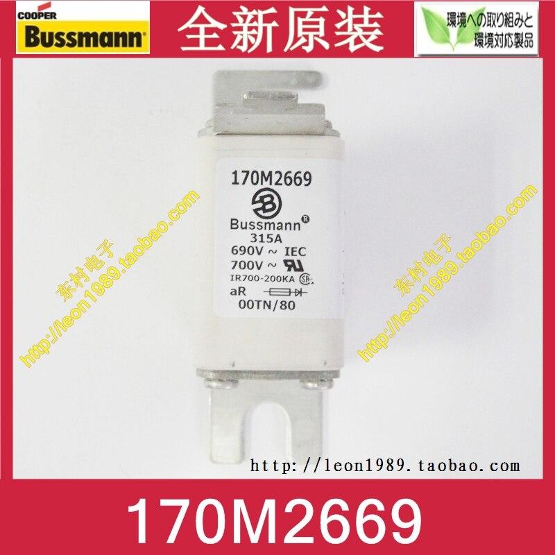Original US BUSSMANN fuse 170M2669 170M2669D 315A 690V fuse