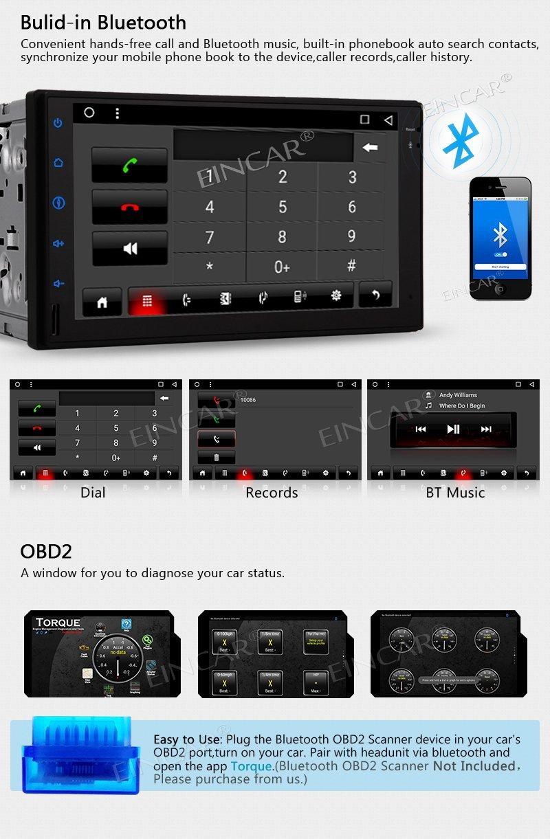 Octa Core Android 7.1 OS Auto autoradio stéréo Double Din unité de tête 7 ''GPS Navigation Bluetooth commande au volant WIFI + 4G - 5
