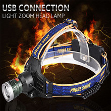 10000LM XM-L T6 2*18650 3.7v Headlamp Headlight LED USB Rechargeable Set Kit Waterproofing Adjustable base Bicycle Light
