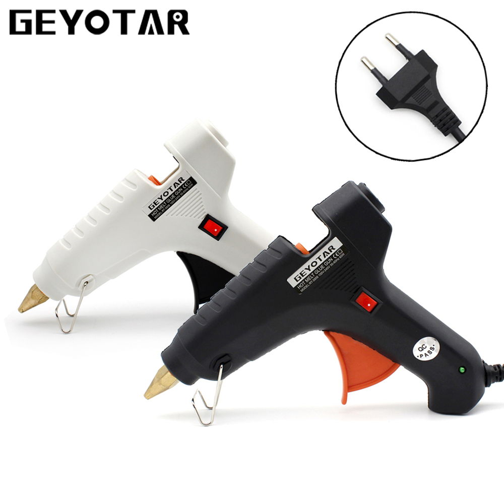 EU Plug 60W 220V Professional Hot melt Glue Gun Heating Craft Repair tool with Free 1pcs 11mm  Glue Sticks Thermo DIY Tools newacalox industrial 150w eu plug hot melt glue gun with 1pc 11mm stick heat temperature tool guns thermo gluegun repair tools