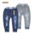 2016 Nuevo Estilo de Pantalones Vaqueros de Los Niños Muchachas de Los Muchachos del Otoño Niños Pantalones de Mezclilla de Diseñador de Moda Casual Ripped Jeans Para 2 ~ 9 Años