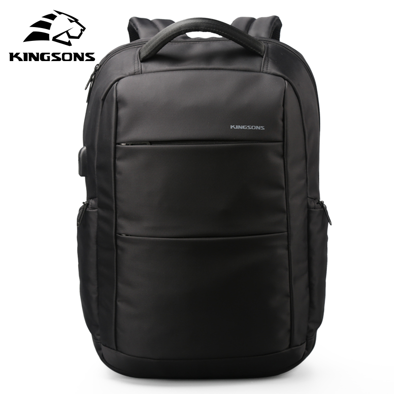 Kingsons External Charging USB Function Laptop Backpack Anti-theft Man Business Dayback Women Travel Bag 15.6 inches School Bag kingsons external charging usb function school backpack anti theft boy s girl s dayback women travel bag 15 6 inch 2017 new