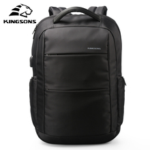 Kingsons Exterior Charging USB Operate Laptop computer Backpack Anti-theft Man Enterprise Dayback Ladies Journey Bag 15.6 inches Faculty Bag