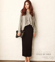 2018 autumn and winter knitted Thicker Long Skirt Women office Package Hip Maxi Skirt Lady Chic Rib Knit Pencil midi Skirts