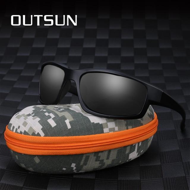 9cd438ffaf OUTSUN 2018 Hot Fashion Out Door Sun Glasses HD Polarized Sunglasses Men  Brand Designer Original Oculos De Sol Masculino
