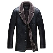 Новая стильная брендовая мужская кожаная мотоциклетная куртка высокого качества в стиле хип-хоп мужские зимние кожаные куртки модные мужские пальто с меховым воротником